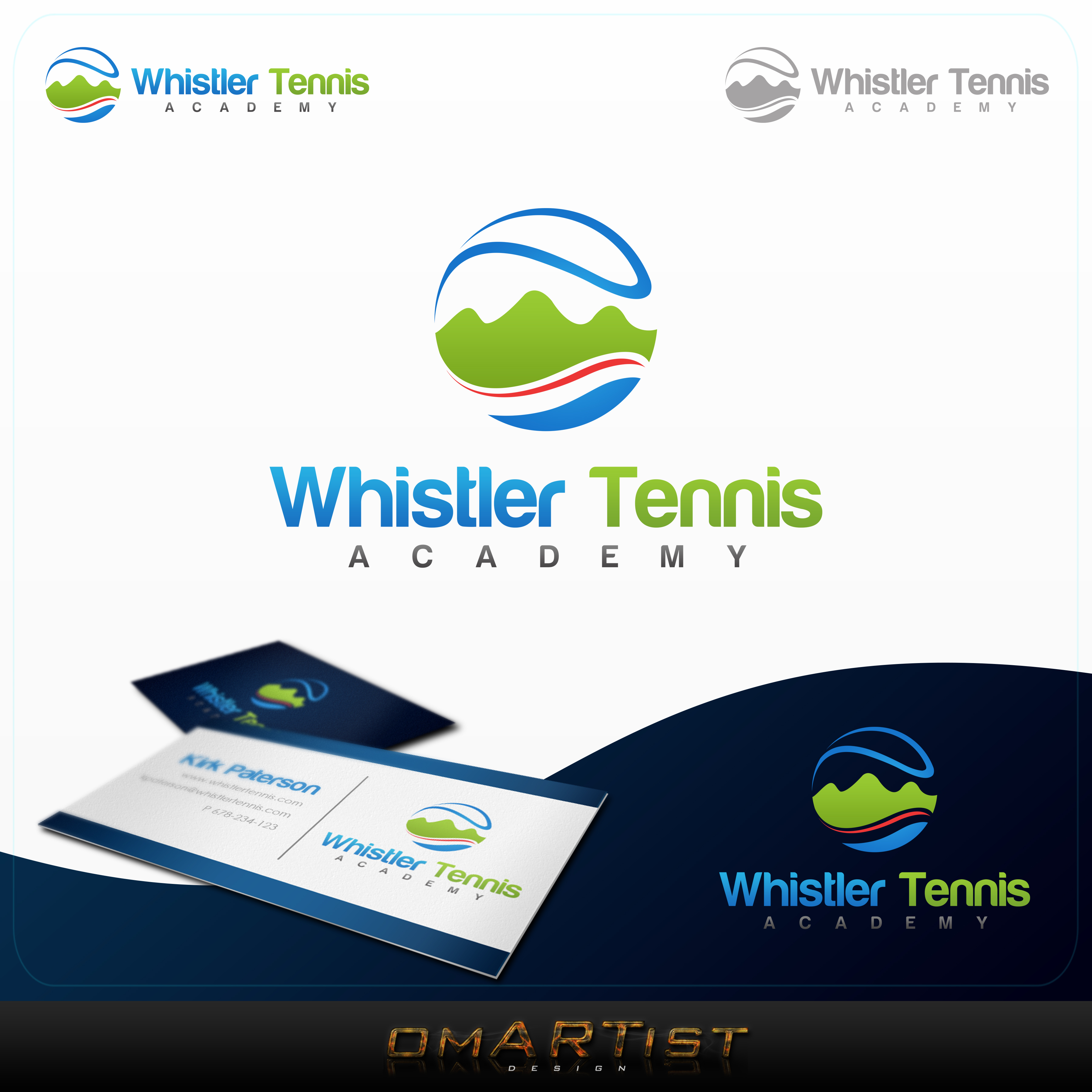 Logo Design by omARTist - Entry No. 214 in the Logo Design Contest Imaginative Logo Design for Whistler Tennis Academy.