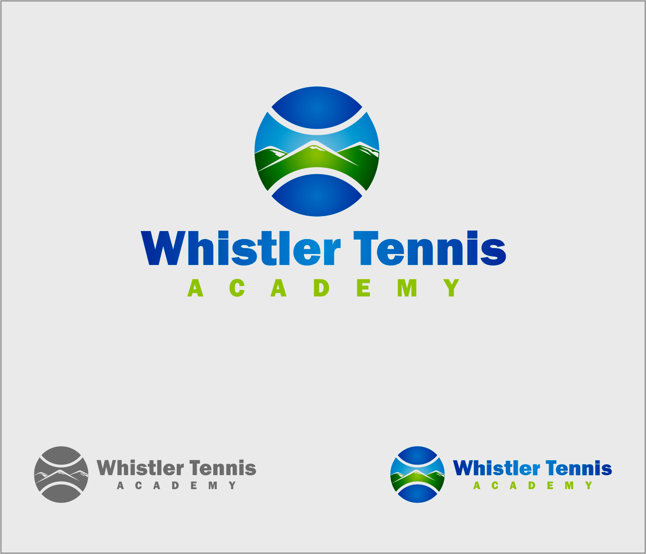 Logo Design by Armada Jamaluddin - Entry No. 217 in the Logo Design Contest Imaginative Logo Design for Whistler Tennis Academy.