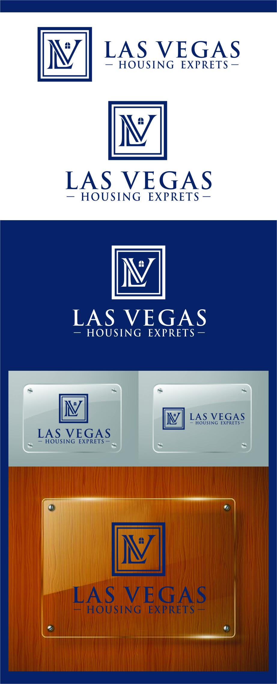 Logo Design by Ngepet_art - Entry No. 81 in the Logo Design Contest Las Vegas Housing Experts Logo Design.