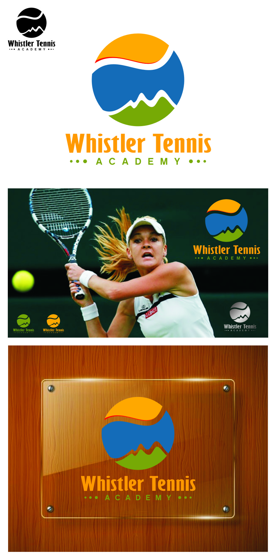 Logo Design by Ngepet_art - Entry No. 226 in the Logo Design Contest Imaginative Logo Design for Whistler Tennis Academy.