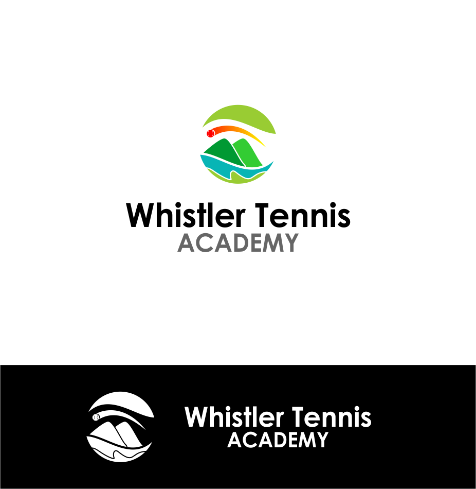 Logo Design by Agus Martoyo - Entry No. 228 in the Logo Design Contest Imaginative Logo Design for Whistler Tennis Academy.