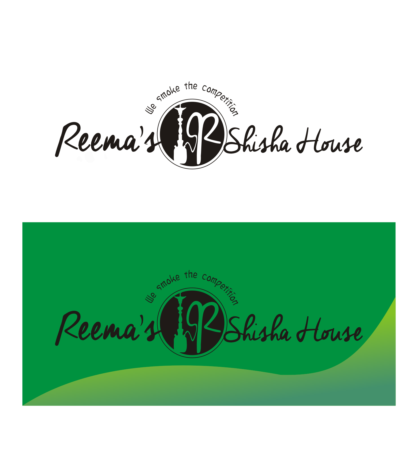 Logo Design by Nthus Nthis - Entry No. 11 in the Logo Design Contest Captivating Logo Design for Reema's Shisha House.