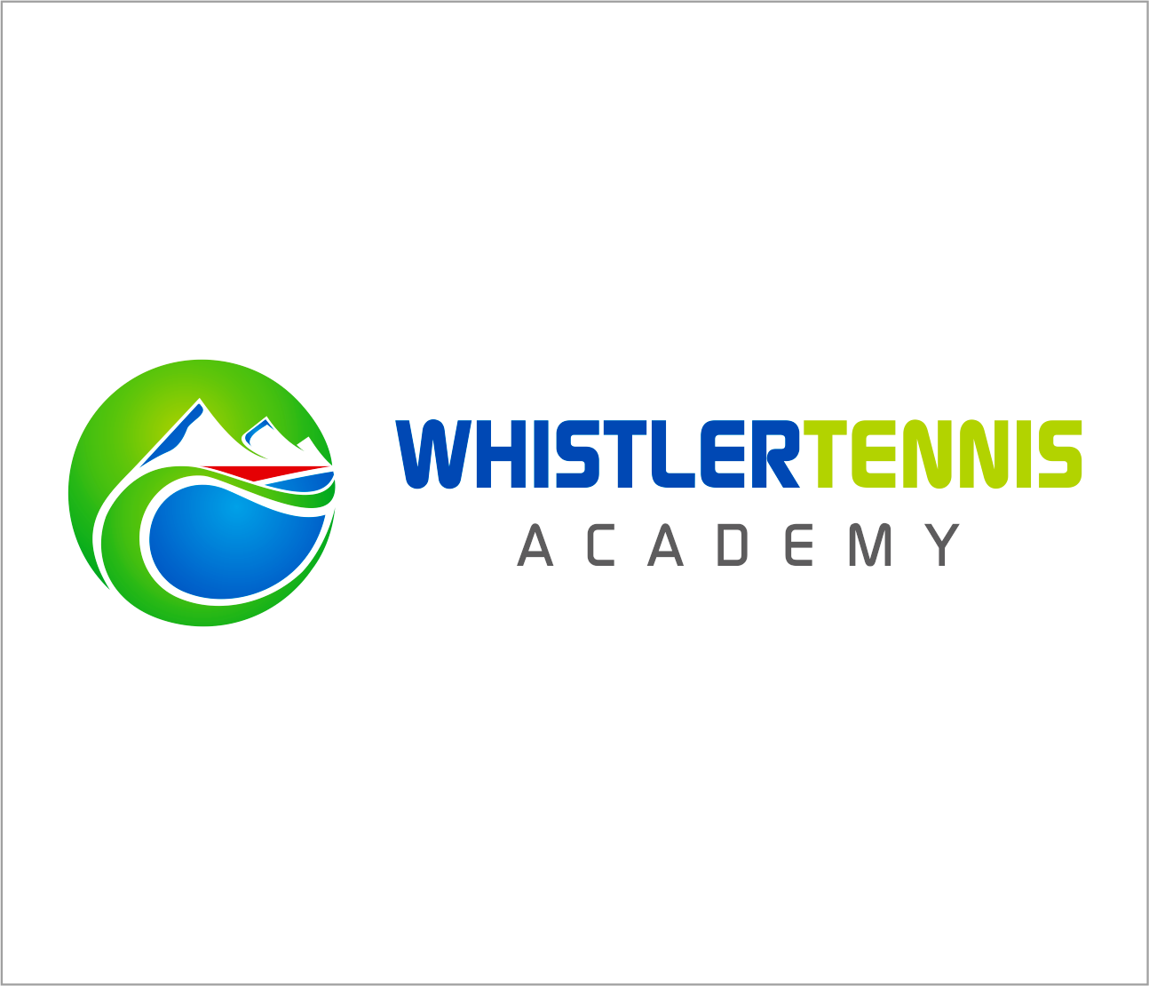 Logo Design by Armada Jamaluddin - Entry No. 232 in the Logo Design Contest Imaginative Logo Design for Whistler Tennis Academy.