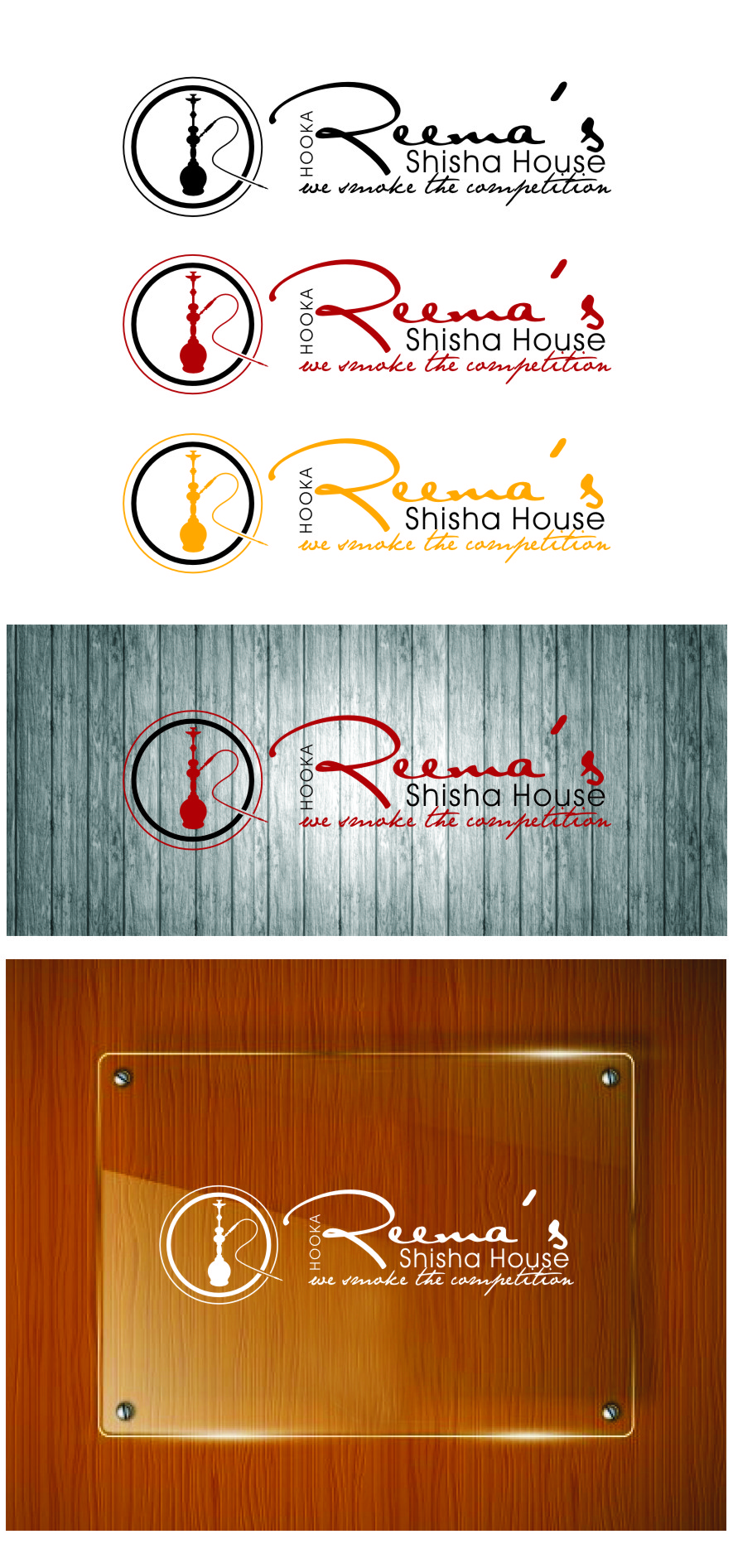 Logo Design by RoSyid Rono-Rene On Java - Entry No. 18 in the Logo Design Contest Captivating Logo Design for Reema's Shisha House.