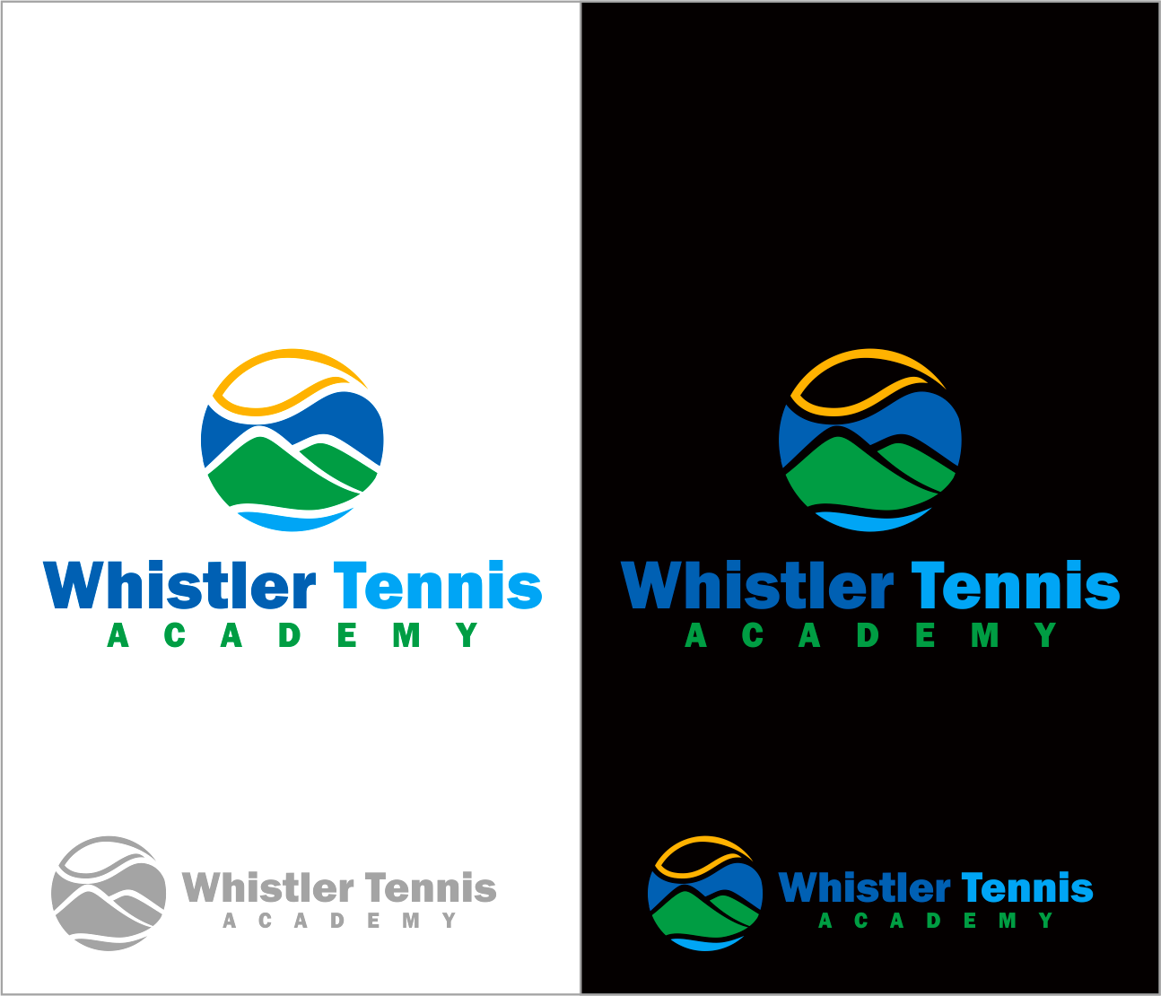 Logo Design by Armada Jamaluddin - Entry No. 238 in the Logo Design Contest Imaginative Logo Design for Whistler Tennis Academy.