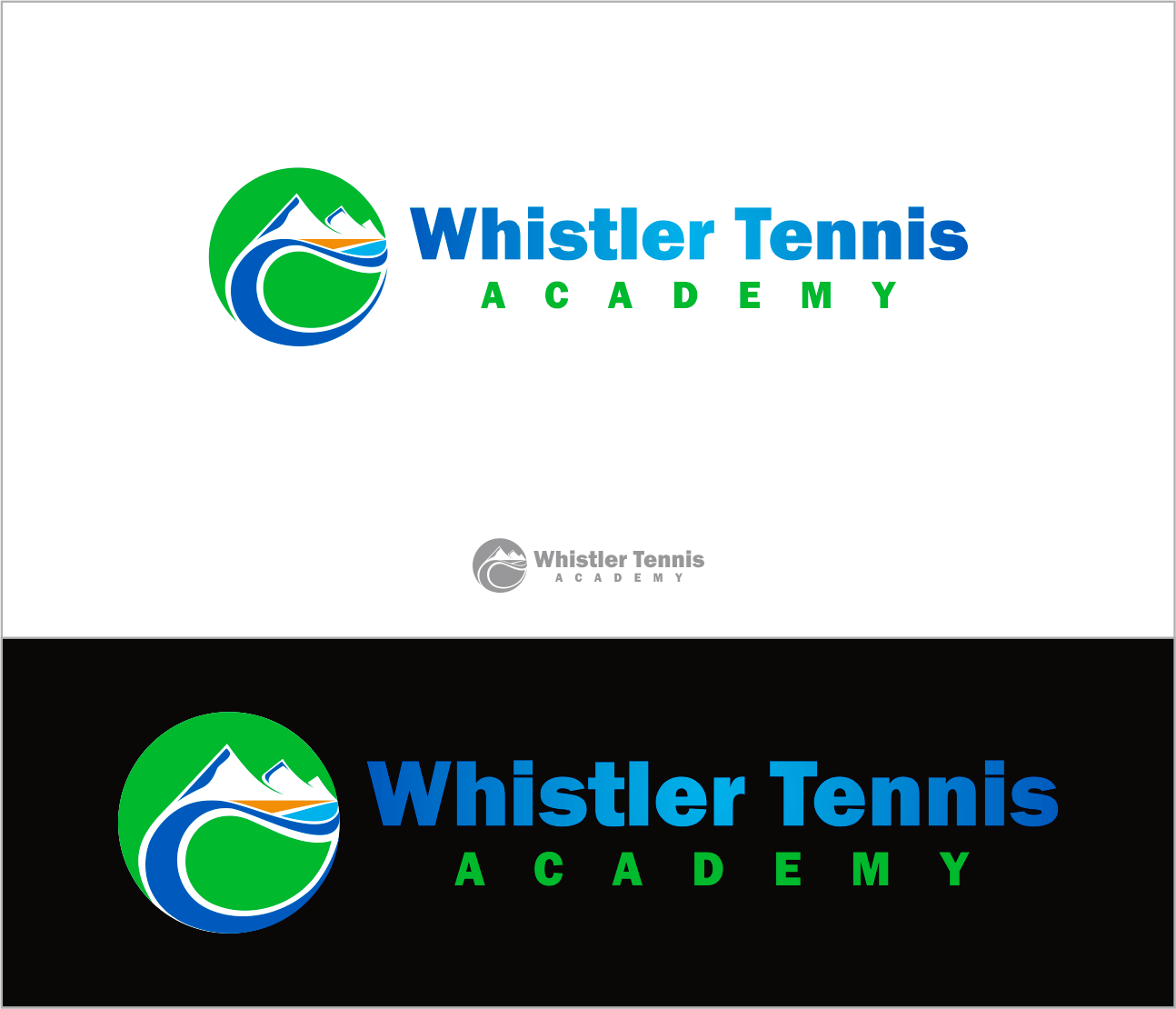 Logo Design by Armada Jamaluddin - Entry No. 241 in the Logo Design Contest Imaginative Logo Design for Whistler Tennis Academy.
