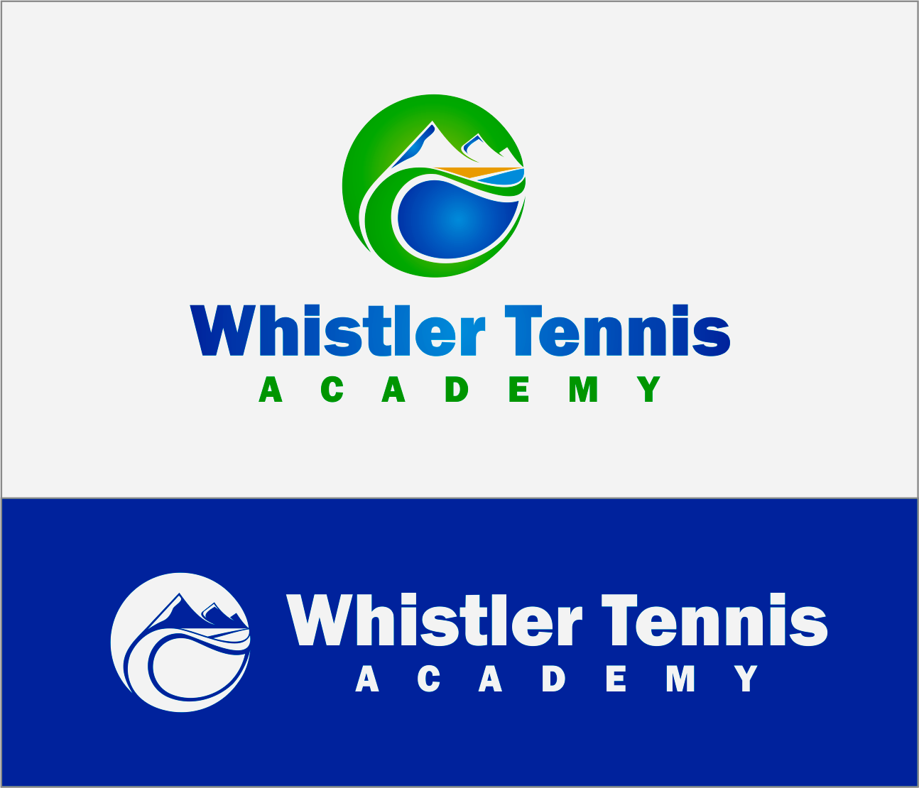 Logo Design by Armada Jamaluddin - Entry No. 242 in the Logo Design Contest Imaginative Logo Design for Whistler Tennis Academy.