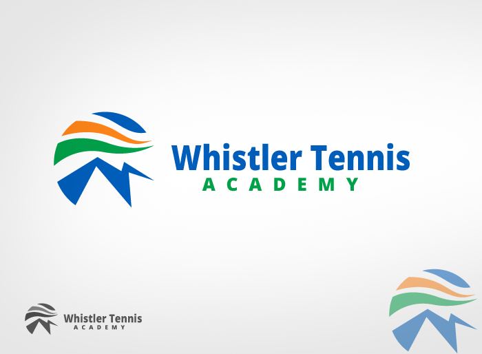 Logo Design by Jan Chua - Entry No. 245 in the Logo Design Contest Imaginative Logo Design for Whistler Tennis Academy.