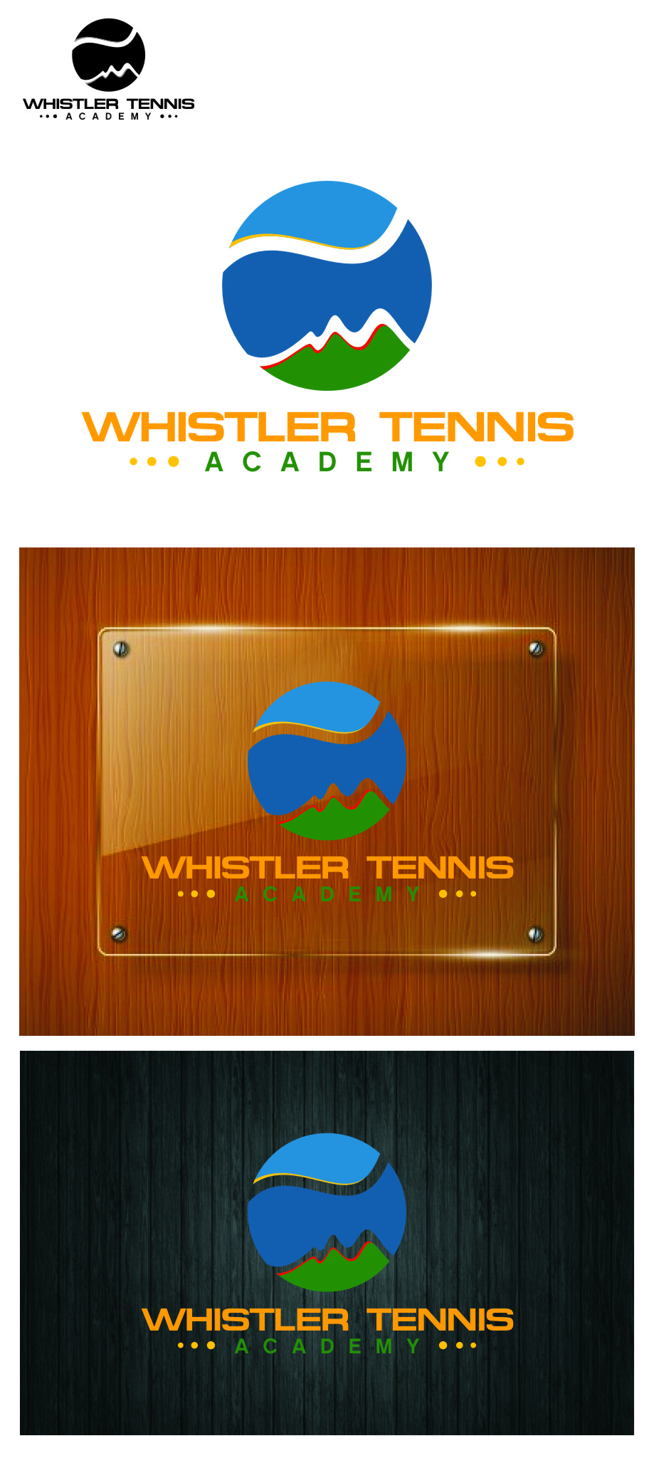Logo Design by RasYa Muhammad Athaya - Entry No. 250 in the Logo Design Contest Imaginative Logo Design for Whistler Tennis Academy.