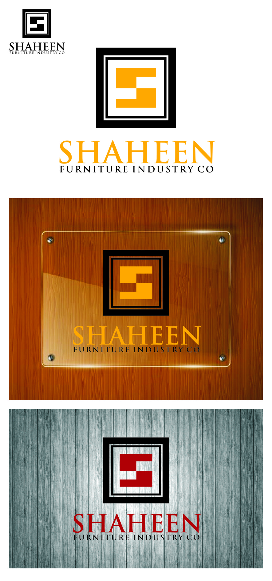 Logo Design by RasYa Muhammad Athaya - Entry No. 23 in the Logo Design Contest Artistic Logo Design for Shaheen Furniture Industry Co..