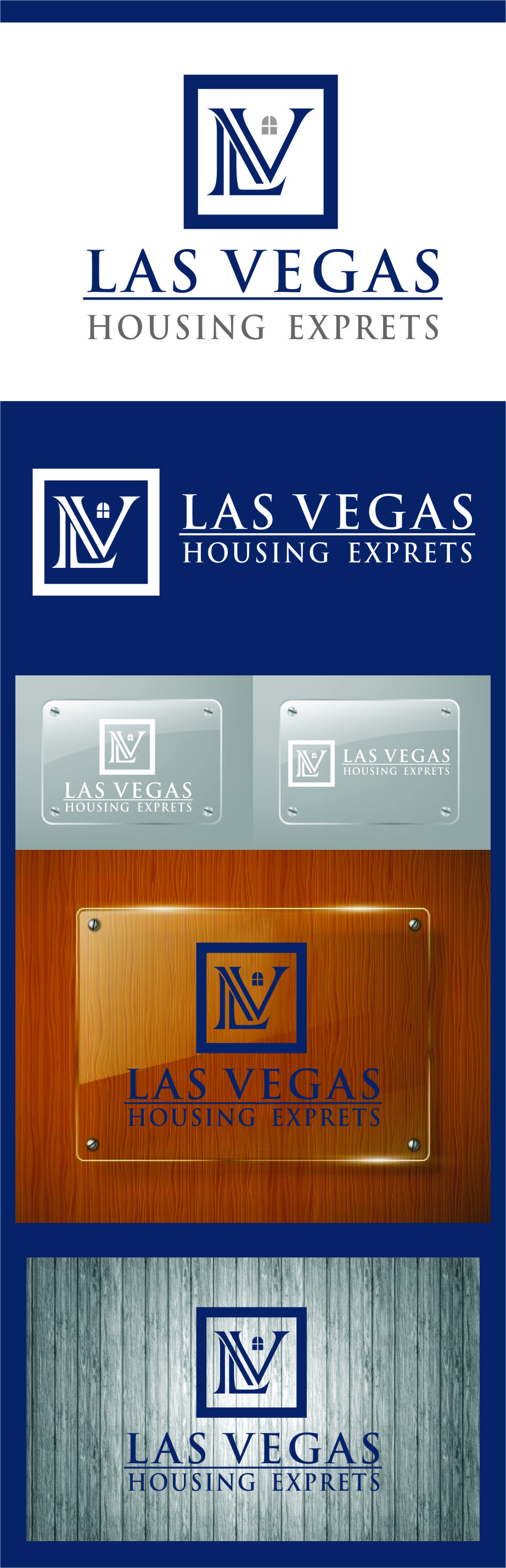 Logo Design by RasYa Muhammad Athaya - Entry No. 88 in the Logo Design Contest Las Vegas Housing Experts Logo Design.