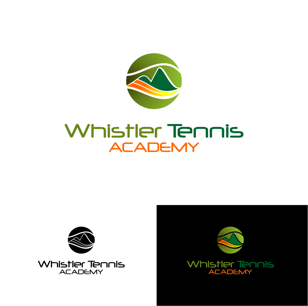 Logo Design by Agus Martoyo - Entry No. 257 in the Logo Design Contest Imaginative Logo Design for Whistler Tennis Academy.