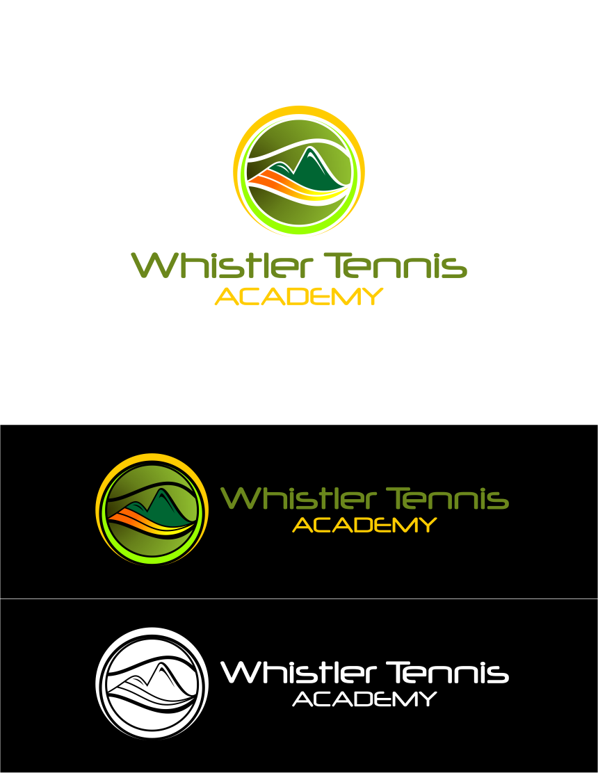 Logo Design by Agus Martoyo - Entry No. 258 in the Logo Design Contest Imaginative Logo Design for Whistler Tennis Academy.