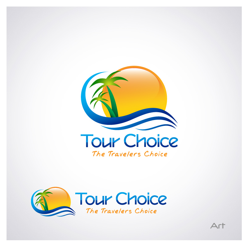 Logo Design by Puspita Wahyuni - Entry No. 52 in the Logo Design Contest www.TourChoice.com Logo Design.