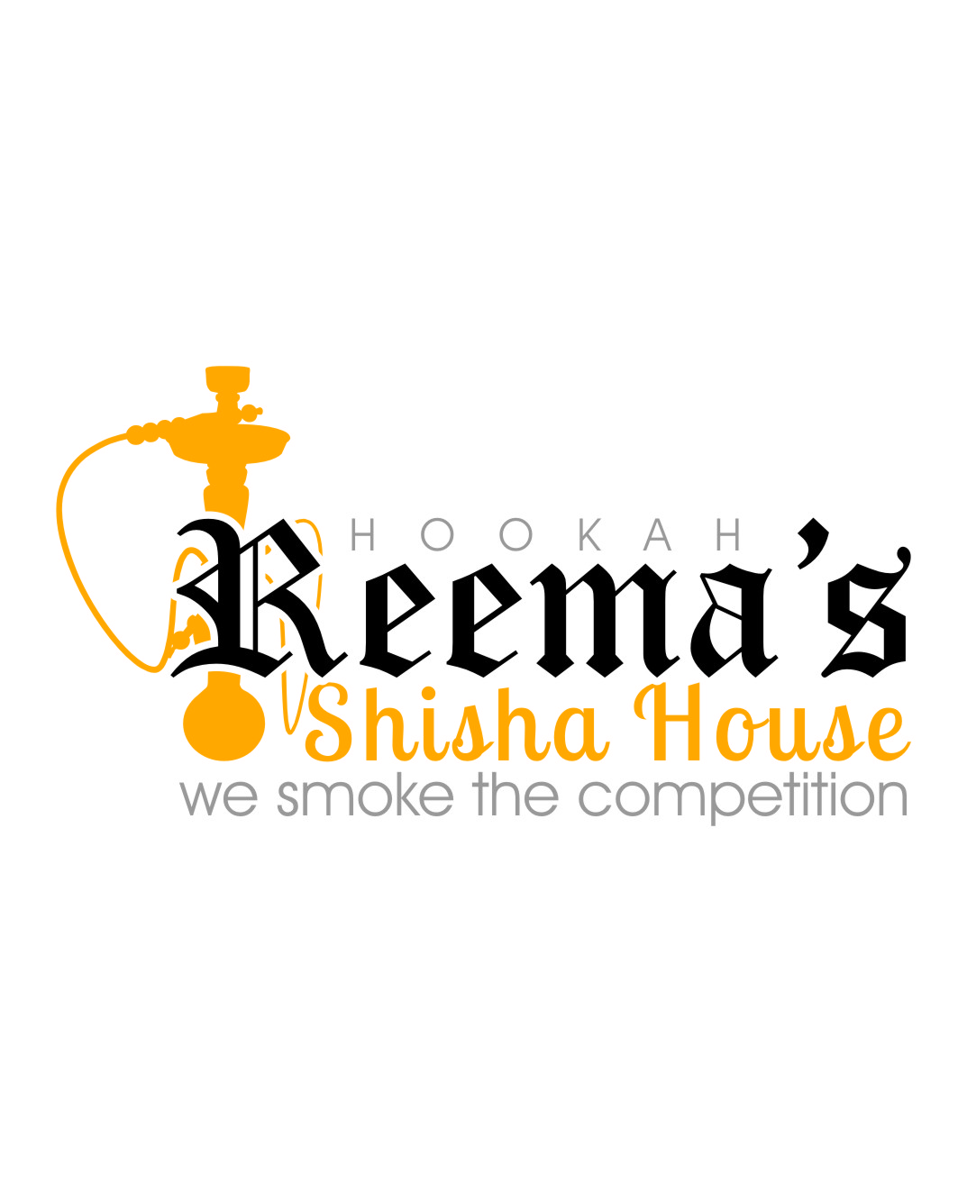 Logo Design by Ngepet_art - Entry No. 28 in the Logo Design Contest Captivating Logo Design for Reema's Shisha House.