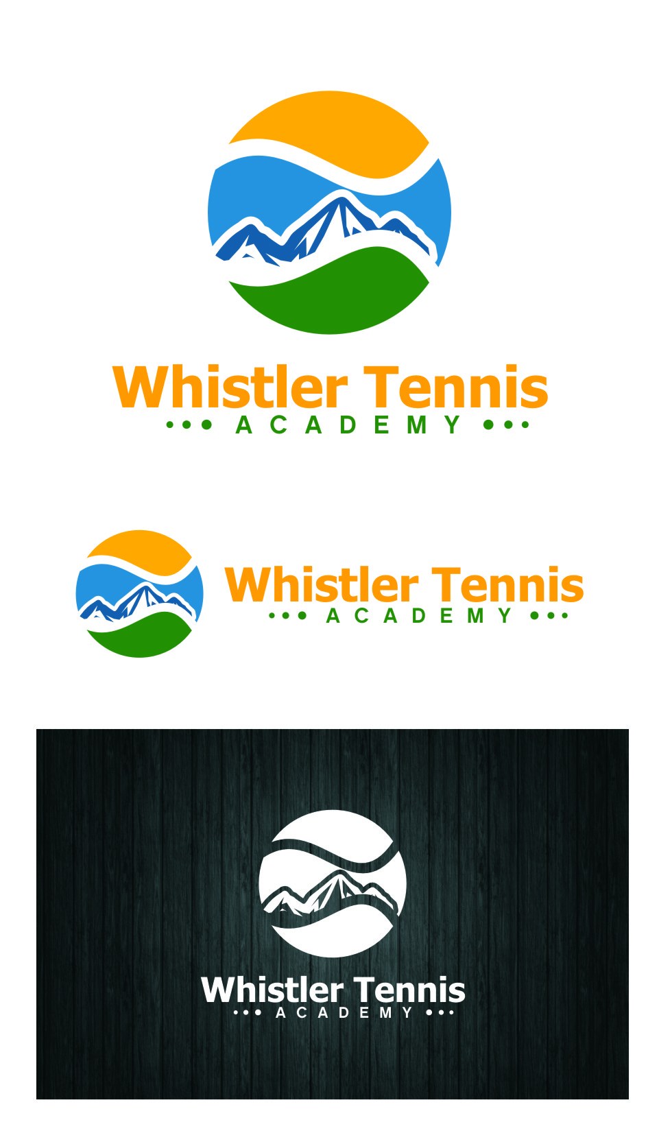 Logo Design by RasYa Muhammad Athaya - Entry No. 271 in the Logo Design Contest Imaginative Logo Design for Whistler Tennis Academy.