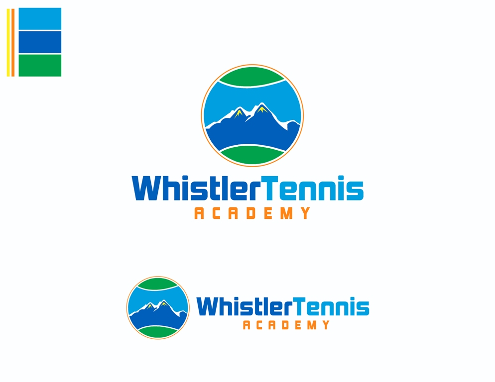 Logo Design by Juan_Kata - Entry No. 272 in the Logo Design Contest Imaginative Logo Design for Whistler Tennis Academy.