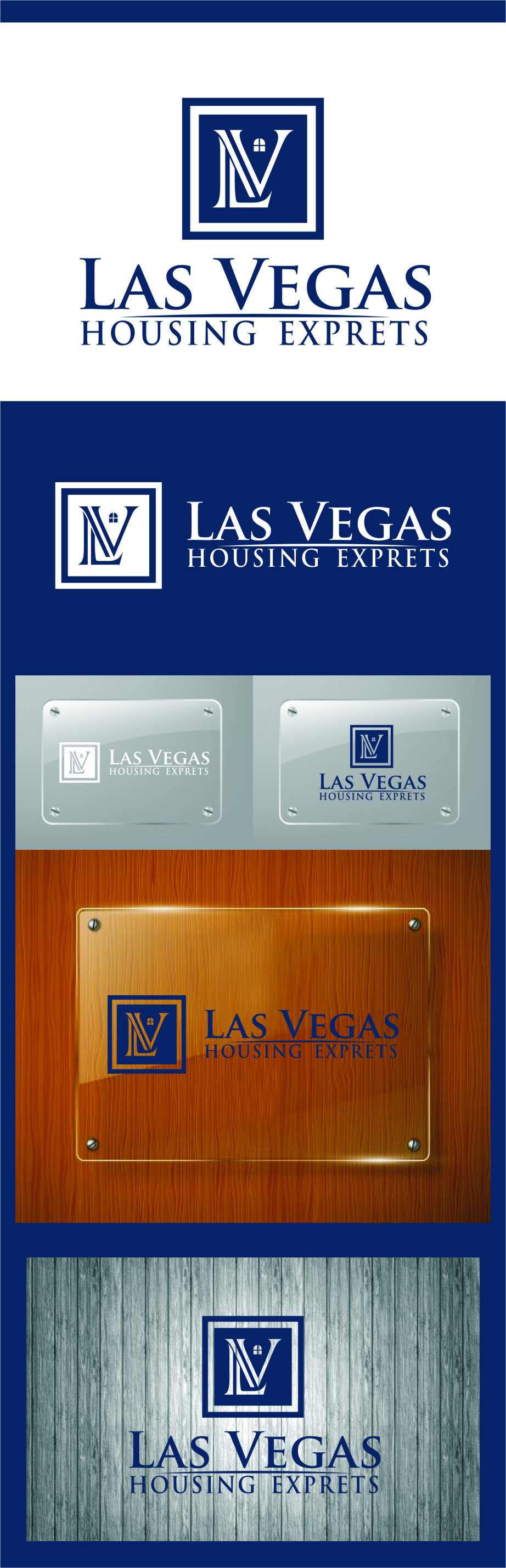 Logo Design by Ngepet_art - Entry No. 99 in the Logo Design Contest Las Vegas Housing Experts Logo Design.