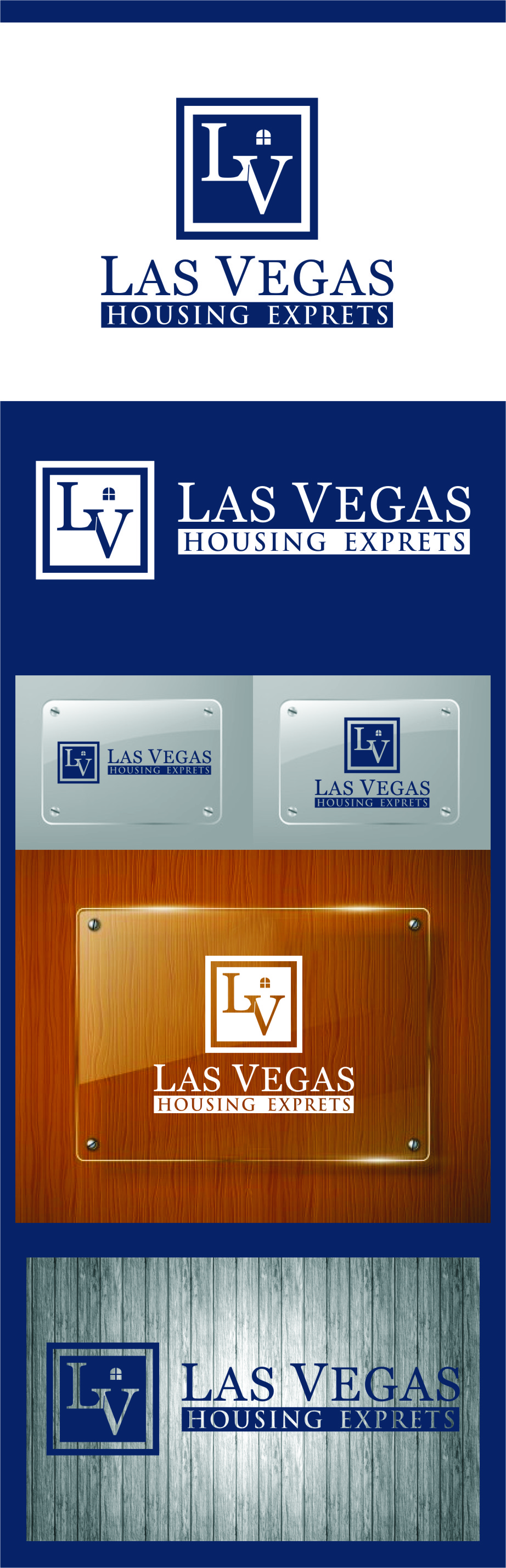 Logo Design by RoSyid Rono-Rene On Java - Entry No. 102 in the Logo Design Contest Las Vegas Housing Experts Logo Design.