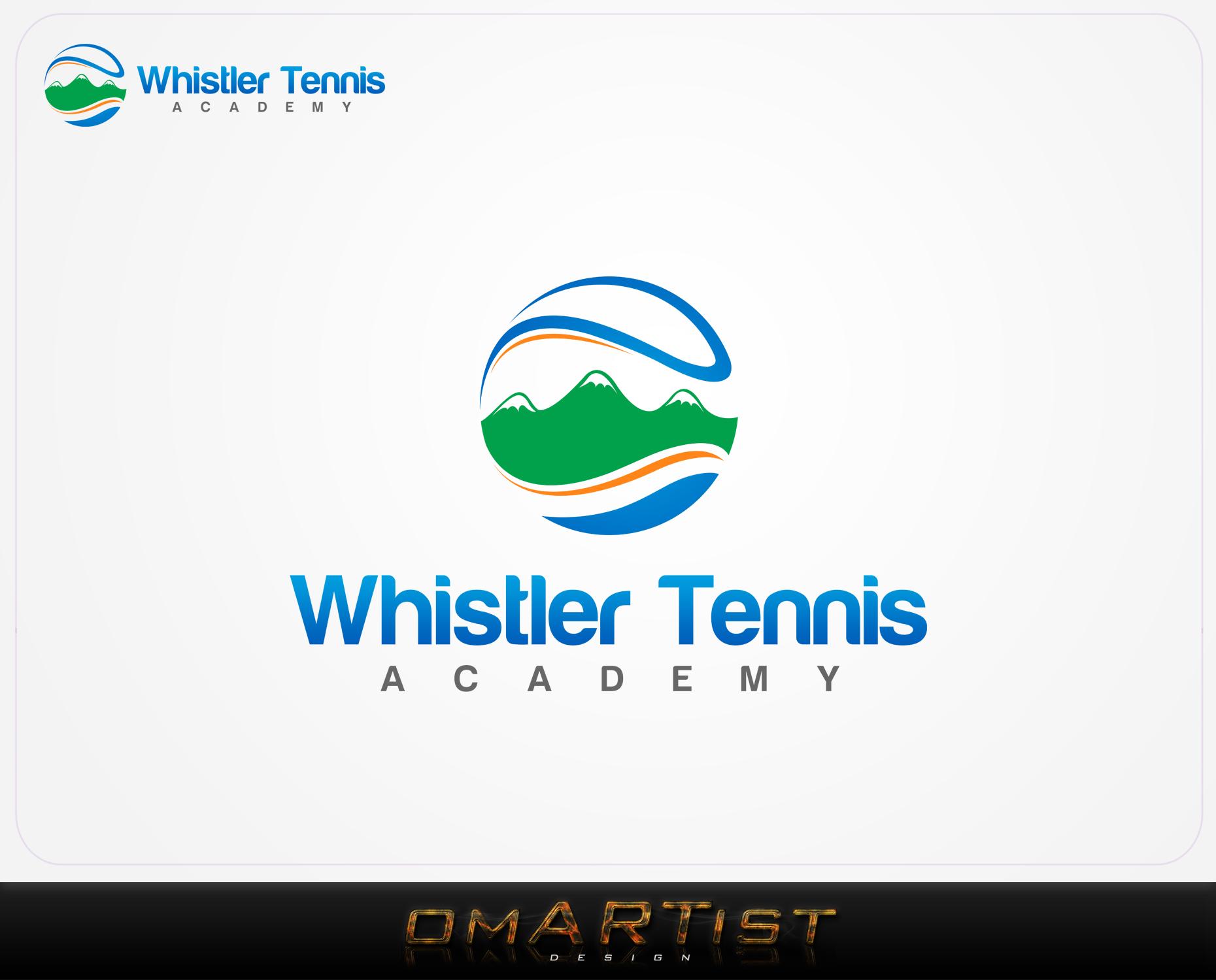 Logo Design by omARTist - Entry No. 289 in the Logo Design Contest Imaginative Logo Design for Whistler Tennis Academy.
