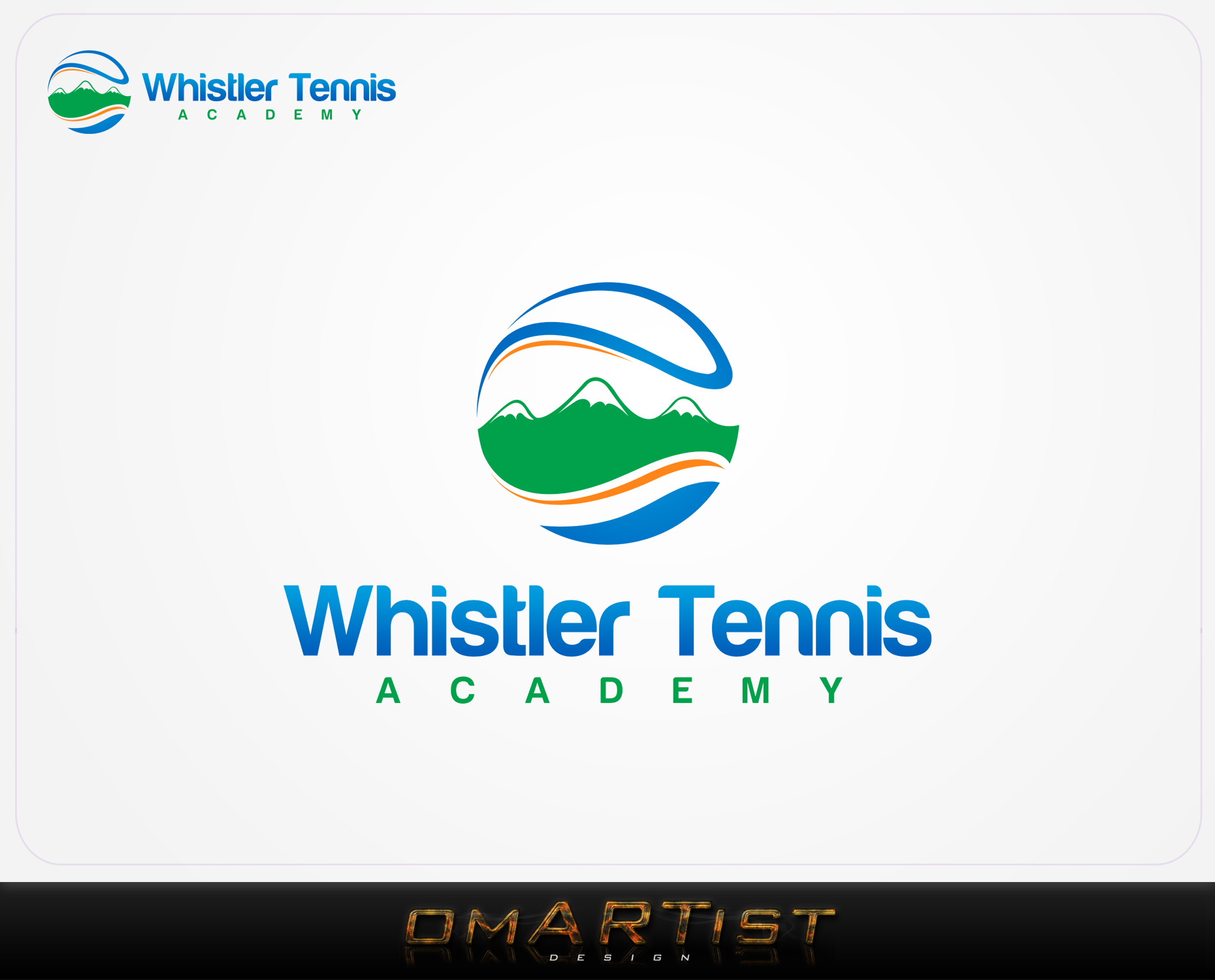 Logo Design by omARTist - Entry No. 290 in the Logo Design Contest Imaginative Logo Design for Whistler Tennis Academy.
