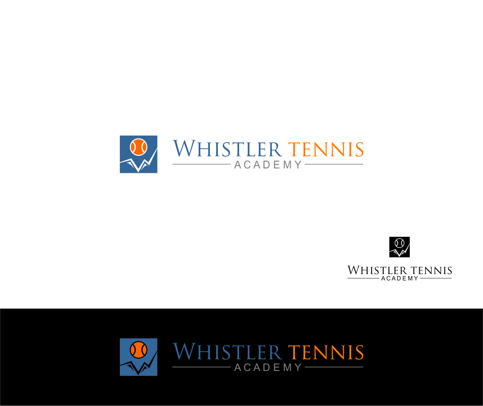 Logo Design by Agus Martoyo - Entry No. 292 in the Logo Design Contest Imaginative Logo Design for Whistler Tennis Academy.