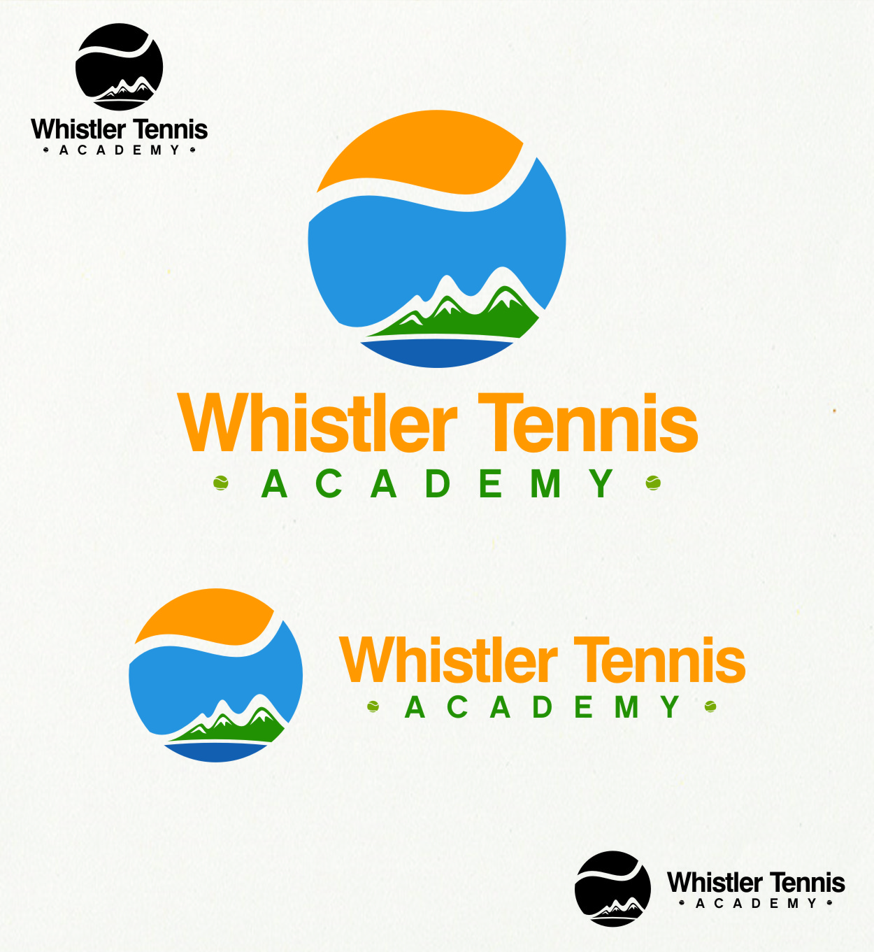 Logo Design by RasYa Muhammad Athaya - Entry No. 301 in the Logo Design Contest Imaginative Logo Design for Whistler Tennis Academy.