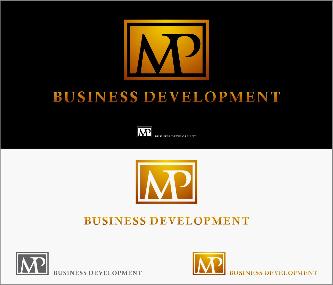 Logo Design by Armada Jamaluddin - Entry No. 95 in the Logo Design Contest MP Business Development Inc. Logo Design.