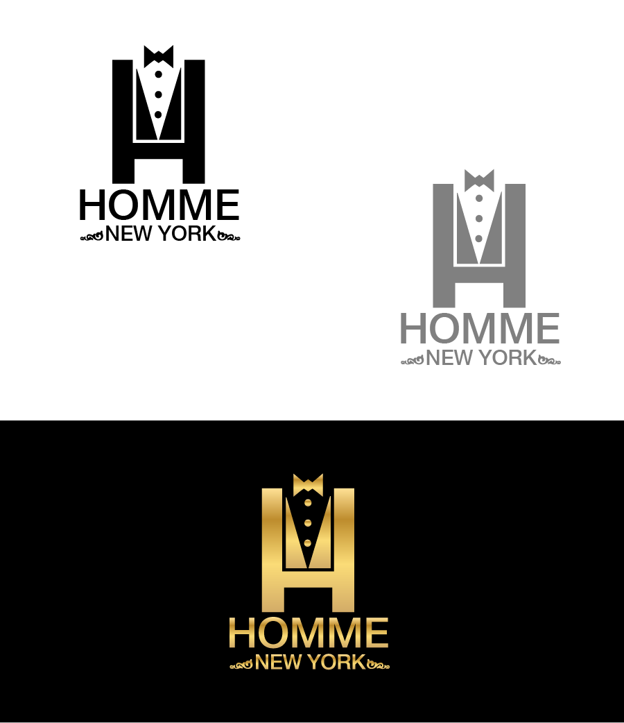 Logo Design by Private User - Entry No. 1 in the Logo Design Contest Artistic Logo Design for HOMME | NEW YORK.