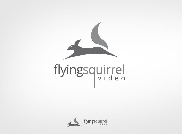 Logo Design by Jan Chua - Entry No. 31 in the Logo Design Contest Artistic Logo Design for Flying squirrel video.