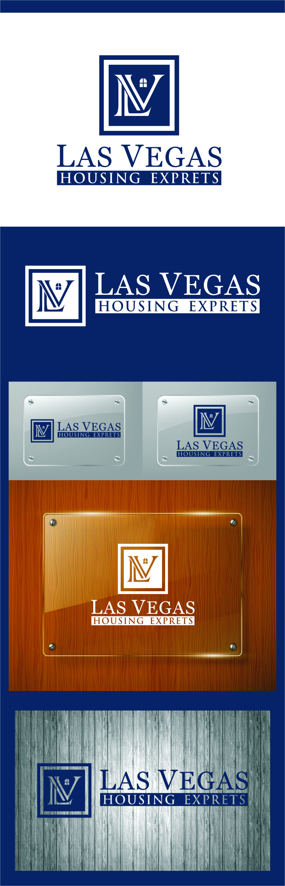 Logo Design by RasYa Muhammad Athaya - Entry No. 125 in the Logo Design Contest Las Vegas Housing Experts Logo Design.