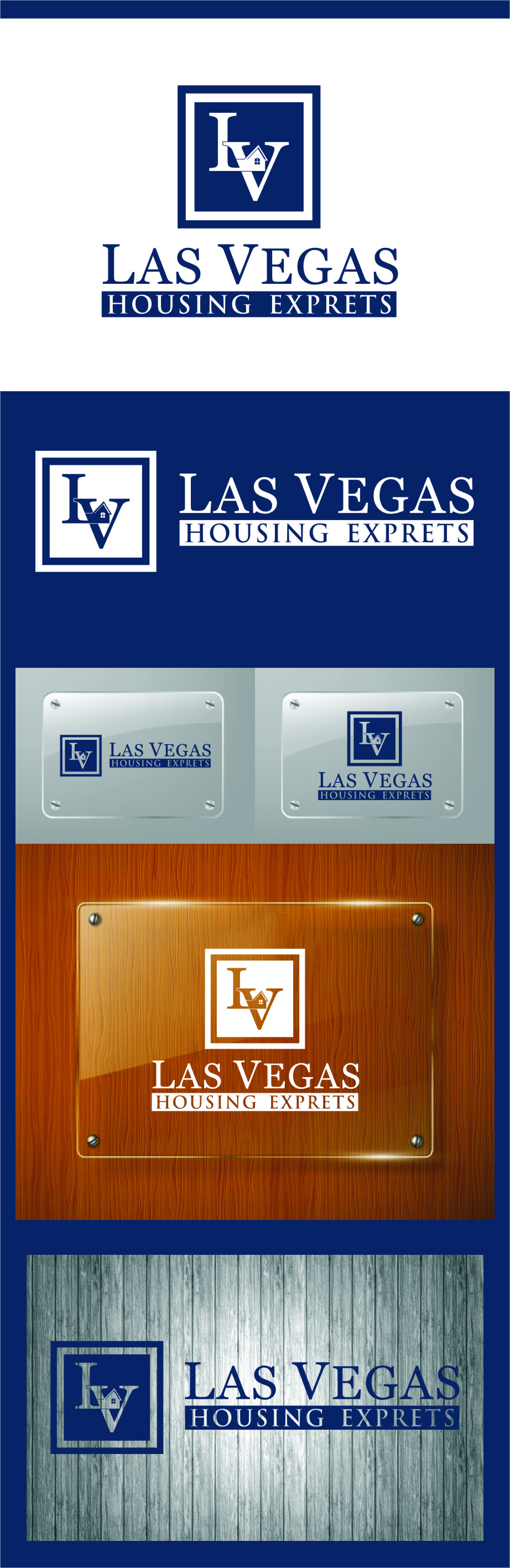 Logo Design by RoSyid Rono-Rene On Java - Entry No. 126 in the Logo Design Contest Las Vegas Housing Experts Logo Design.