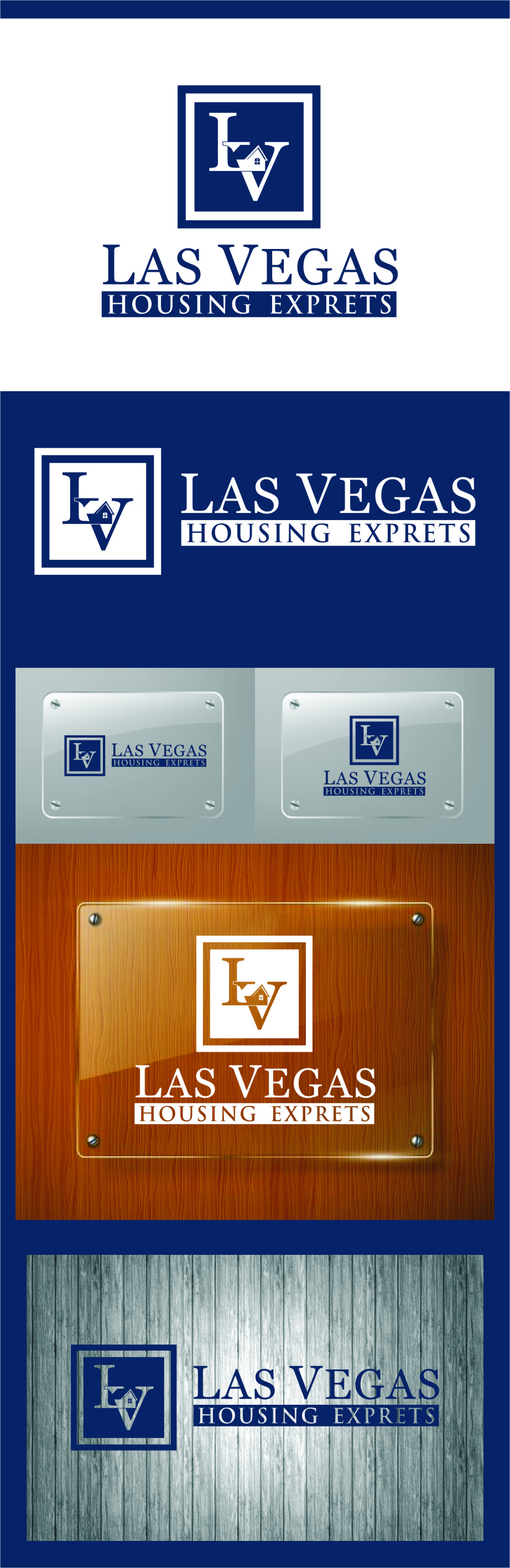 Logo Design by Ngepet_art - Entry No. 127 in the Logo Design Contest Las Vegas Housing Experts Logo Design.