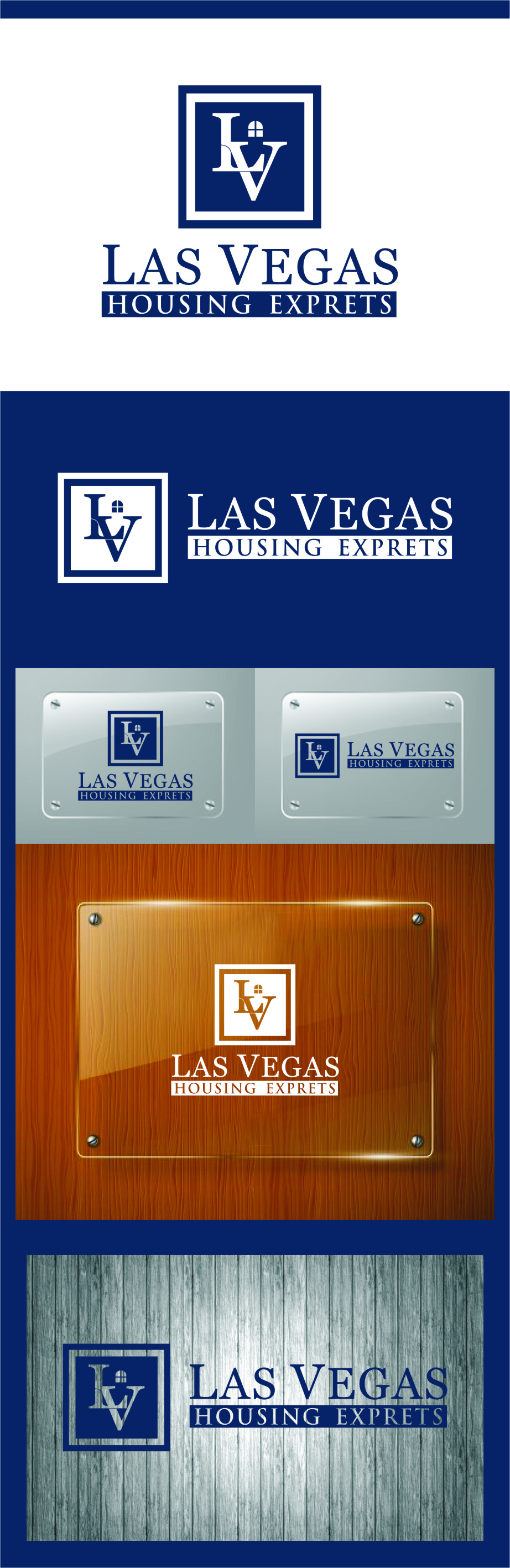 Logo Design by RasYa Muhammad Athaya - Entry No. 129 in the Logo Design Contest Las Vegas Housing Experts Logo Design.