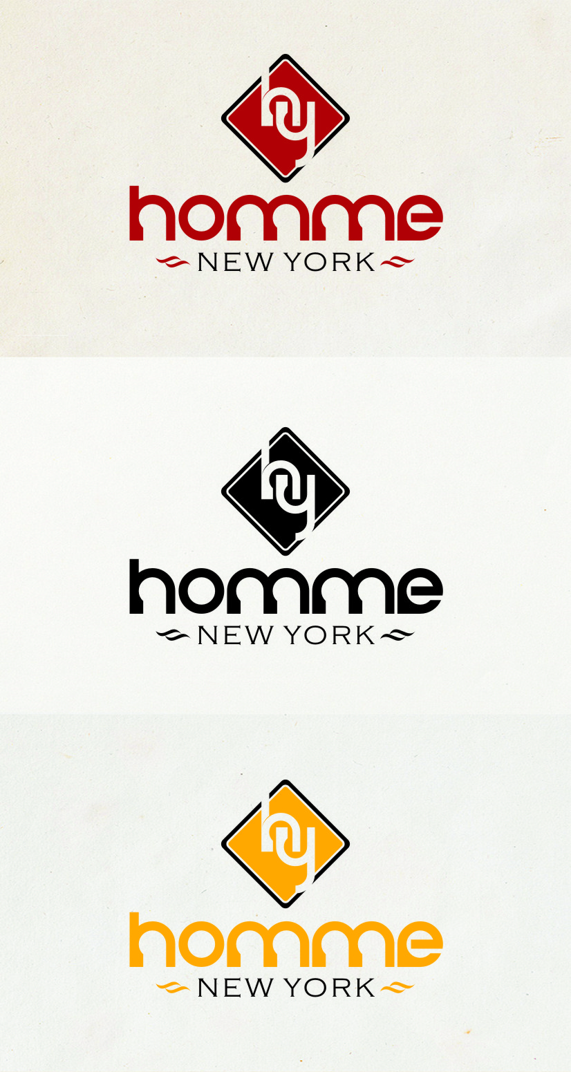 Logo Design by Ngepet_art - Entry No. 8 in the Logo Design Contest Artistic Logo Design for HOMME | NEW YORK.