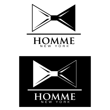 Logo Design by Burke Mexico - Entry No. 11 in the Logo Design Contest Artistic Logo Design for HOMME | NEW YORK.
