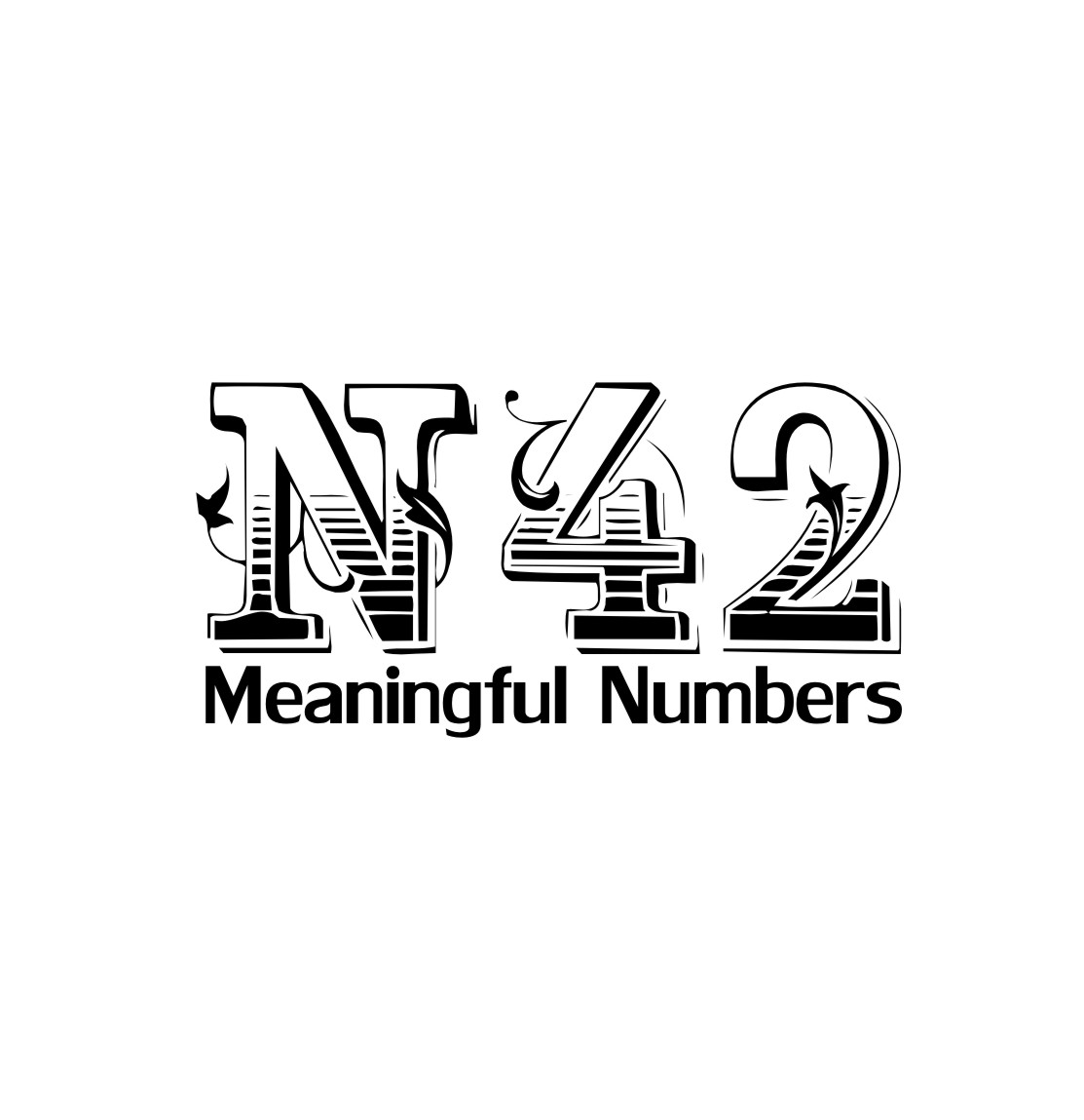 Logo Design by Ngepet_art - Entry No. 6 in the Logo Design Contest Artistic Logo Design for Number 42.