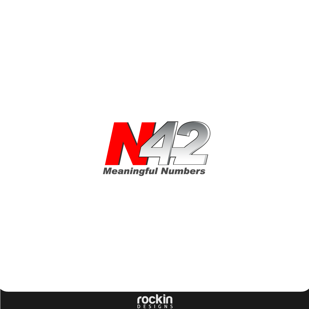 Logo Design by rockin - Entry No. 23 in the Logo Design Contest Artistic Logo Design for Number 42.