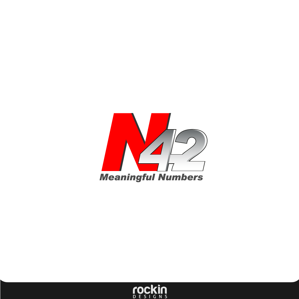 Logo Design by rockin - Entry No. 24 in the Logo Design Contest Artistic Logo Design for Number 42.