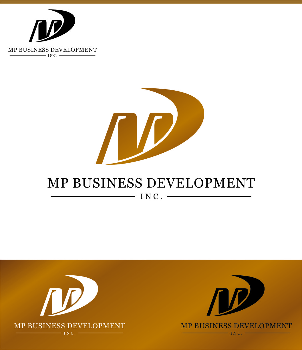 Logo Design by RasYa Muhammad Athaya - Entry No. 137 in the Logo Design Contest MP Business Development Inc. Logo Design.
