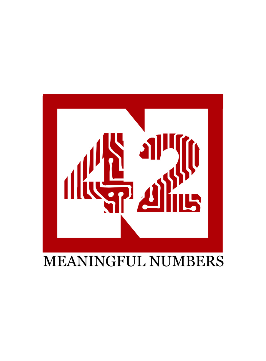 Logo Design by Ngepet_art - Entry No. 25 in the Logo Design Contest Artistic Logo Design for Number 42.