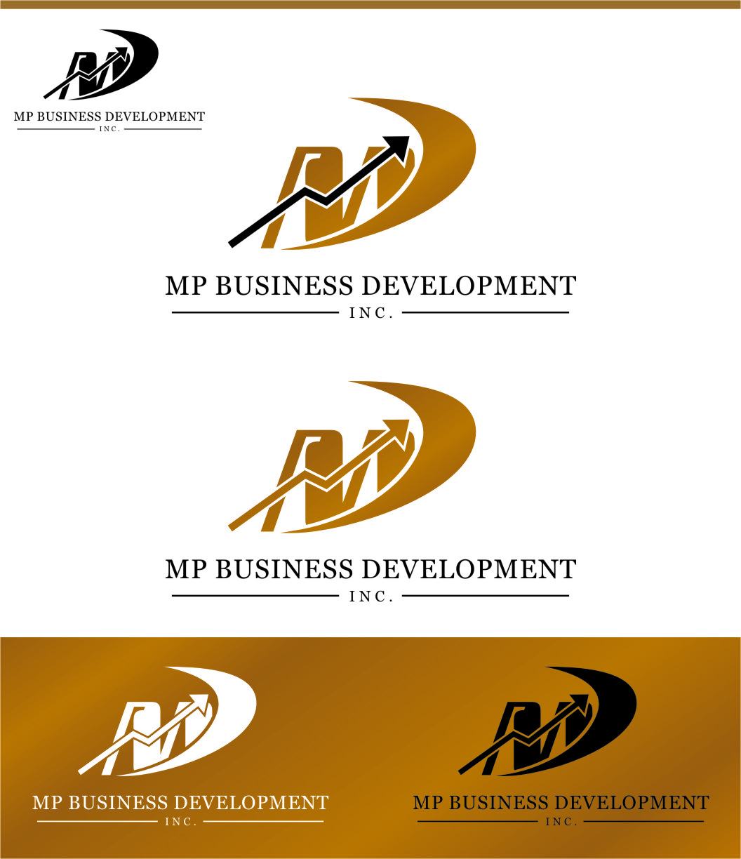 Logo Design by RasYa Muhammad Athaya - Entry No. 149 in the Logo Design Contest MP Business Development Inc. Logo Design.