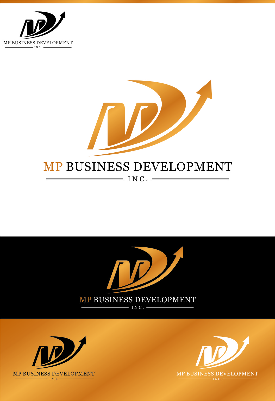 Logo Design by Ngepet_art - Entry No. 152 in the Logo Design Contest MP Business Development Inc. Logo Design.