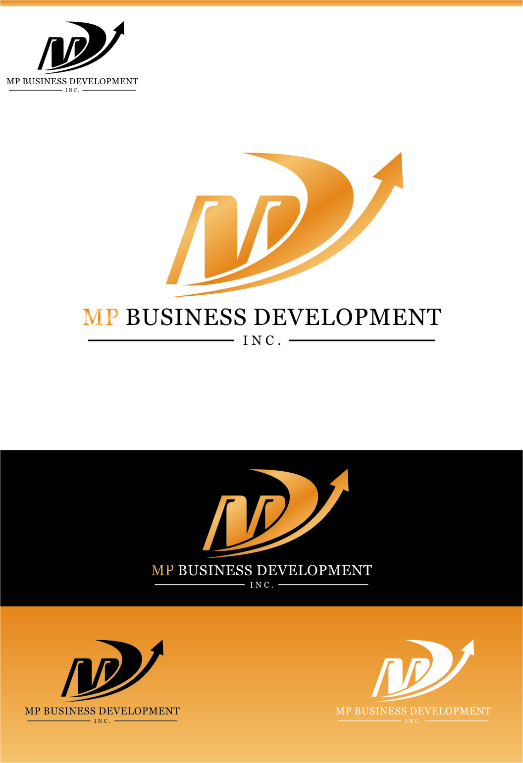 Logo Design by Ngepet_art - Entry No. 154 in the Logo Design Contest MP Business Development Inc. Logo Design.