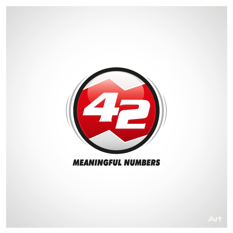 Logo Design by Puspita Wahyuni - Entry No. 31 in the Logo Design Contest Artistic Logo Design for Number 42.