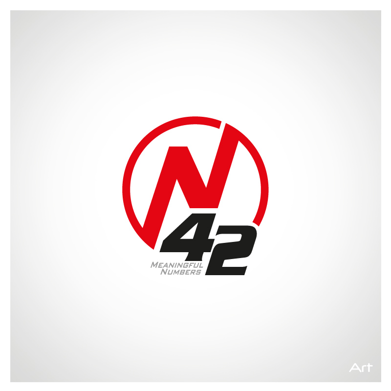 Logo Design by Puspita Wahyuni - Entry No. 37 in the Logo Design Contest Artistic Logo Design for Number 42.
