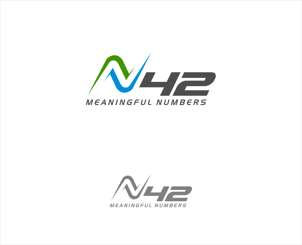 Logo Design by haidu - Entry No. 46 in the Logo Design Contest Artistic Logo Design for Number 42.
