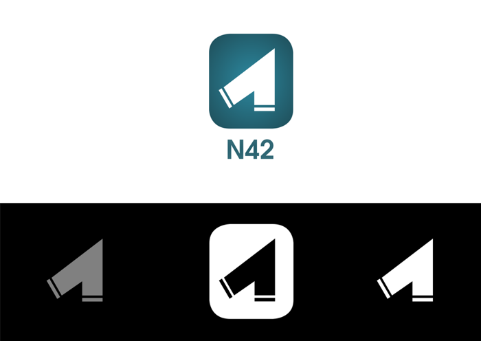 Logo Design by JaroslavProcka - Entry No. 57 in the Logo Design Contest Artistic Logo Design for Number 42.