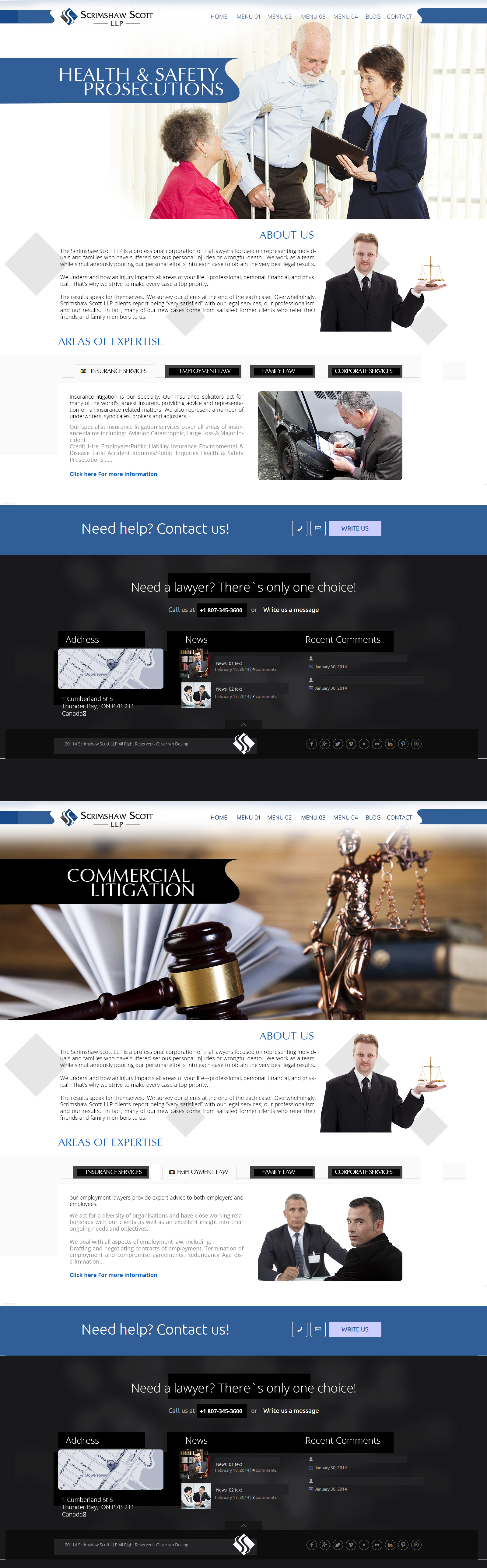 Web Page Design by Oliver WangHo - Entry No. 4 in the Web Page Design Contest Captivating Web Page Design for Scrimshaw Scott LLP.