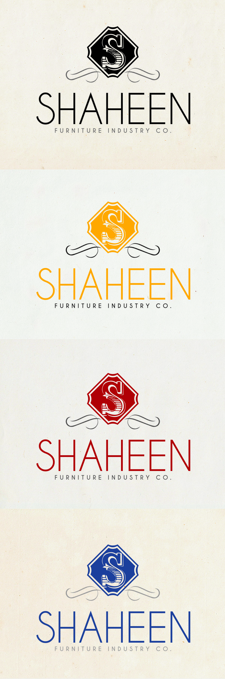 Logo Design by RasYa Muhammad Athaya - Entry No. 101 in the Logo Design Contest Artistic Logo Design for Shaheen Furniture Industry Co..